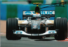 Bas Leinders Hand Signed Minardi Cosworth Photo 12x8 3.