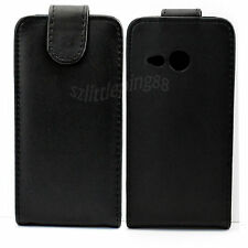 Black Leather Vertical Flip Phone Case Cover Pouch For HTC One mini 2 M8 Mini