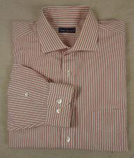 Tolles DANIEL HECHTER Long Sleeve Hemd, Baumwolle rosé-weiß gestreift Gr. 54-56