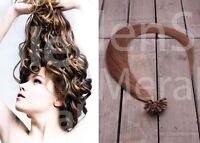 100 Strähnen / 1 Gramm / Echthaar Haarverlängerung 60cm