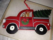 Brand New Dandy Design Yorkshire Terrier Yorkie Dog Christmas Ornament Truck