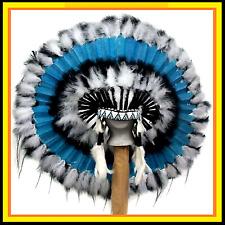 "Genuine Native American Navajo Indian headdress 36 inch ""STILLWATER"""