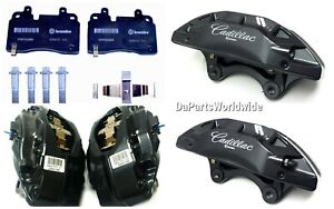 Brembo Calipers Front Set ASSY (Pins+PADS+bolts) Cadillac ATS SRX CTS STS CT6..