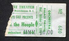 1973 Aerosmith Mott The Hoople Concert Ticket Stub Providence RI Dream On