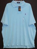 Polo Ralph Lauren Mens Blue Soft Cotton Classic Fit Polo Shirt NWT Size 2XL XXL