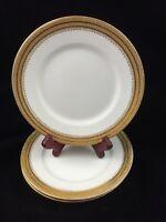 """Set of 3 William Guerin Limoges France 6"""" Plates, WG & Co Signed Made for Gimbel"""