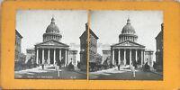 Parigi Pantheon Foto Pl36 Stereo Vintage Analogica c1900