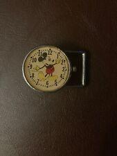Vintage 60-70's Mickey Mouse- clock - Belt Buckle unused