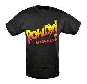 WWE UFC MMA ROWDY RONDA ROUSEY AUTHENTIC MEN'S SIZE M BLACK T-SHIRT NWOT!