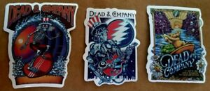 "Three(3) High Quality Vinyl Dead & Company Stickers, Waterproof, 3.5"", Nice Ones"