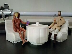 Star Wars Cantina Diorama Playset Mos Eisley Chairs and Table 3.75 inch