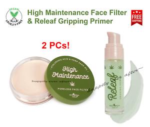 2 PCs Italia Deluxe Vegan Makeup Base & Primer Set, Smooth & Moisturize Skin