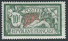 1925-26 FRANCIA ALLEGORIA MERSON 10 F MH * - EDF007