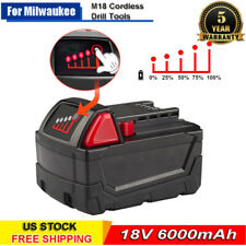 For Milwaukee M18 XC 6.0 Ah Extended Capacity 18V LITHIUM Ion Battery 48-11-1852