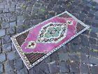 Small rug, Geometric handmade rug, Turkish rug, Kitchen rug | 1,6 x 3,2 ft