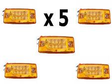 Freightliner Roof Cab Clearance Marker Lights (x5) Amber LED Amber Lens