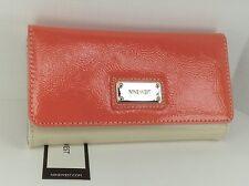 Women's NINE WEST by MACYS Orange Beige SUMMER TriFold Wallet - $39 MSRP -10%
