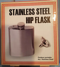 4 oz Stainless Steel Hip Flask with Funnel