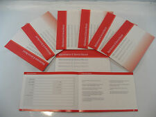 Replacement Generic Service History Book Suitable For Toyota  Red