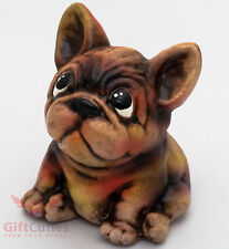 Clay Grog figurine French Bulldog dog souvenir handmade & hand-painted