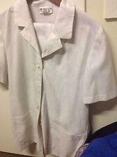 Woman's Millers Beige Size 12 Short Sleeve Jacket/Shirt