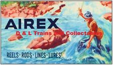 Billboard for Plasticville Holder Lionel Airex Fishing Lures Blue Stream