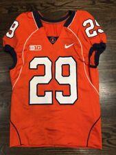 Game Worn Used Illinois Fighting Illini Football Jersey Nike #29 Sz 42 BONAHOOM