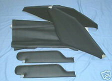 67-68 camaro  new sun visors with headliner black  dot