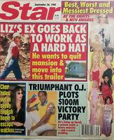 Star Tabloid Sept 26 1995 Liz Taylor Ex Goes Back to Work Cher Emmy MTV Awards