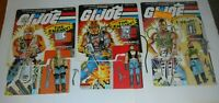 1985 GI Joe Dreadnok Figure Lot Torch Buzzer Ripper Complete w/ File Card Backs