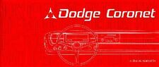 1967 Dodge Coronet Owners Manual User Guide Reference Operator Book Fuses Fluids