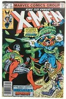 X-Men Annual 4 FN+ 6.5 Dr Strange Appearance Wolverine Cover Marvel Comics 1980