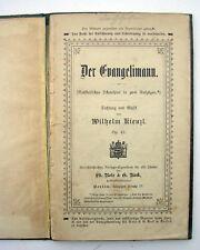 DER EVANGELIMANN. RARE OPERA BOOK 1850. WILHEM KIENZL. LIBRO.BUCH.