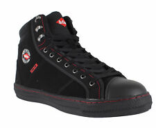 Lee Cooper 022 Unisex Black SB Steel Toe Safety Retro Style High Hi Tops Boots