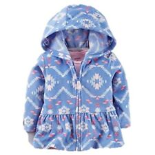 Nwt Carters Girl Toddler 24 Months Hooded Cotton Cardigan Jacket Blue Pink Aztec
