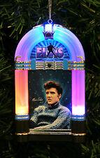"""ELVIS LIGHT-UP JUKEBOX CHRISTMAS TREE ORNAMENT PLAYS """"WINTER WONDERLAND"""""""