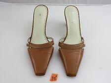 Ralph Lauren WEDNESDAY Women's Pumps Heels Mules Sz 7B Beige Leather
