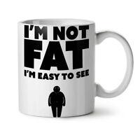 Fat Cool Joke Funny NEW White Tea Coffee Mug 11 oz | Wellcoda
