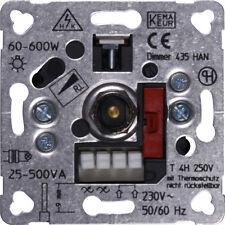 PEHA Phasenanschnittdimmer 60-600W D 435 HAN Dreh Dimmer Einsatz