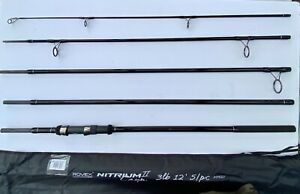 Rovex Nitrium II 5pc Travel 3lb 12/' Carp fishing rod0