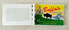 VINTAGE Buffalo New York 10 mini POSTCARDS BOOKLET COLOR REPRODUCTION KODACHROME
