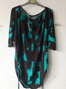 Natori Womens Ladies Black And Blue Dress Size Medium UK