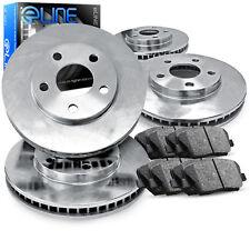 2007-2014 Jeep Wrangler Full Kit eLine Plain Brake Disc Rotors & Ceramic Pads