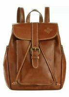 PATRICIA NASH Aberdeen NWT Heritage Italian Tan Leather Backpack Travel $229.00!