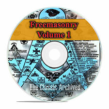 Freemason Secret Society Knights Templar Masonic Library 650 Books Vol 1 DVD F49