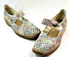 Rieker Antistress Womens Ballerina Mary Janes Multi Color Shoes Sz 40 US 8.5