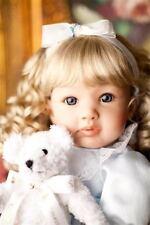 "22"" Lifelike Bambole Reborn Gold Hair Girl Dolls Silicone Vinyl Princess Baby it"