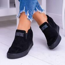USA Womens Fashion Wedge Heel Sneakers Casual Sport Slip-on  Platform Shoes New