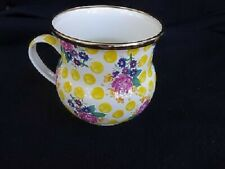 MacKenzie Child Enamelware Pink Rose BUTTERCUP Mugs Retired - 10 available