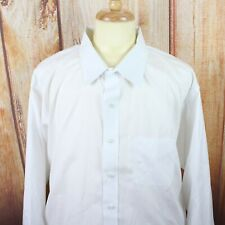 Brooks Brothers Men's 20 36 Dress Shirt Big & Tall Non Iron Button Up White